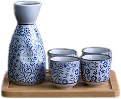 Japanese rice wine is an alcoholic beverage made by fermenting rice that has been polished to remove the bran.